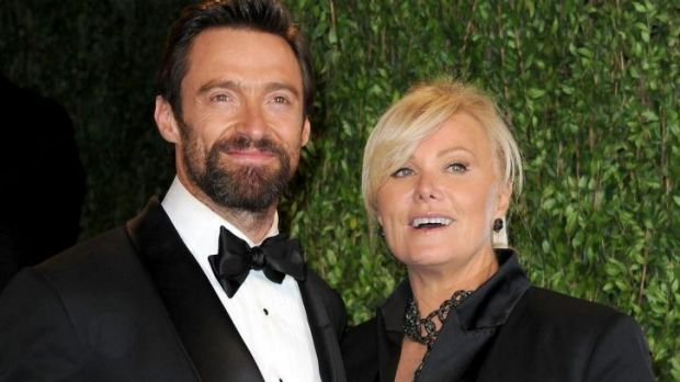 Hugh Jackman with Deborra-Lee Furness.