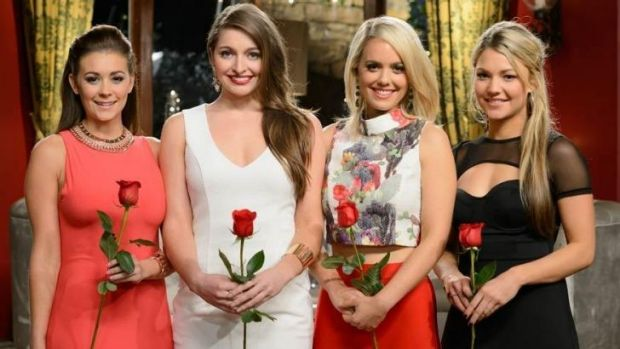 Four Bachelor hopefuls (from left) Lisa, Jessica, Louise and Sam were last night reduced to a trio.