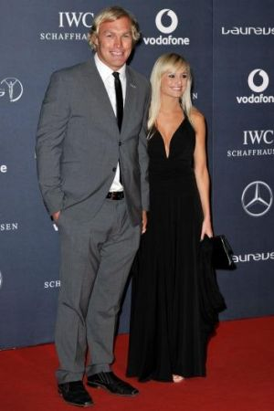 """""""We've seen the other side of the game"""": Schalk Burger with wife Michele."""