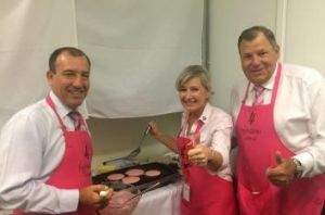 Mal Brough, Member for Fisher, Kim McCosker from 4 Ingredients and Bob Baldwin the Parliamentary Secretary to the ...