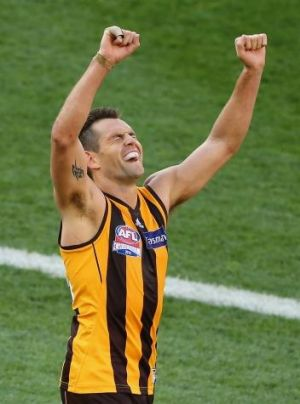 Norm Smith medallist Luke Hodge.