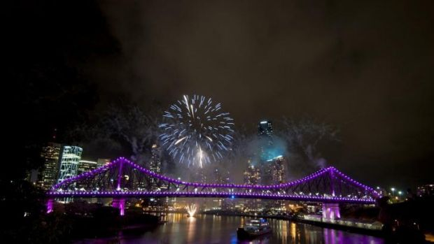 Brisbane left in a purple haze.