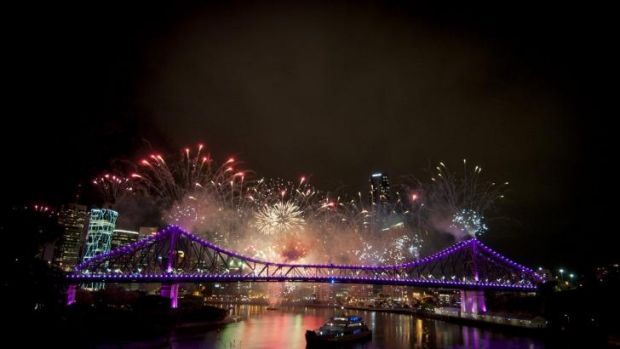 Brisbane Riverfire display.