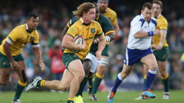Michael Hooper had a strong game for the Wallabies.