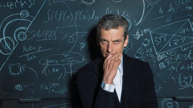 Peter Capaldi plays the Doctor.