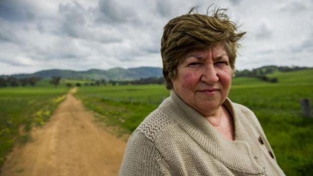 Capital cost: Marilyn Garry fears wind turbines on her grazing property near Binalong will make stock infertile.