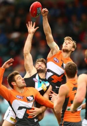 Heading home? The Giants' Jono O'Rourke in action against Port Adelaide earlier this year.