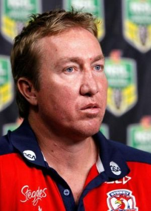 Inspiration: Roosters coach Trent Robinson.