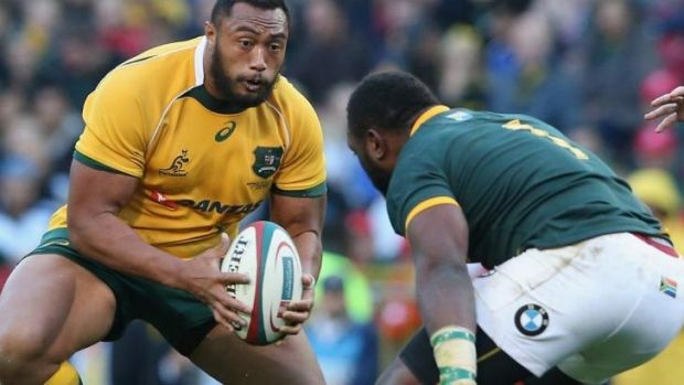 Seasoned traveller: Sekope Kepu in action against the Springboks.