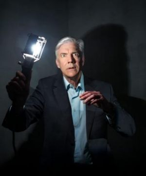 See the light: Shaun Micallef.
