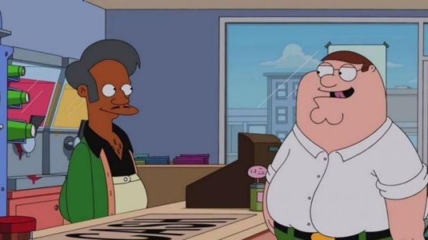 Only let down in this scene ... Apu's voice sounded off.