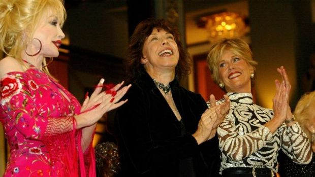 Stars are out: Dolly Parton, Lily Tomlin and Jane Fonda.