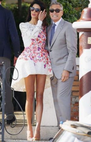 Amal's post wedding Giambattista Valli dress.