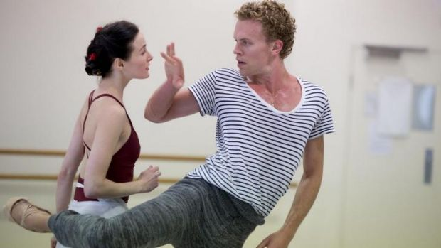 Amber Scott and Adam Bull rehearse for Graeme Murphy's Swan Lake.