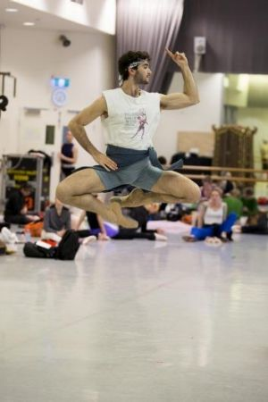 Cristiano Martino rehearsing Peter Wright's The Nutcracker.