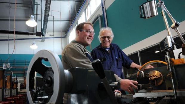 Success: Michael Stapmanns and his former teacher Tony Willie at Northern College of the Arts & Technology where the ...