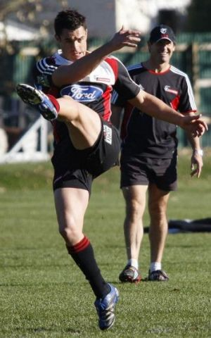 Shellshocked: Dan Carter with then coach Robbie Deans at the Crusaders.
