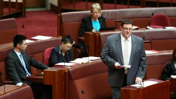 """Senator Glenn Lazarus says launching the inquiry into the Queensland government was """"something I had to do""""."""