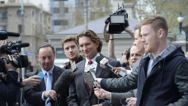 James Hird arrives at the Federal Court last month.