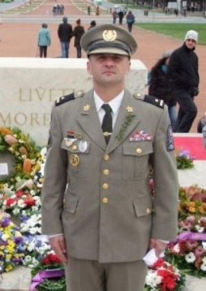 Krunoslav Bonic at the Anzac Day commemoration in Canberra in 2012.