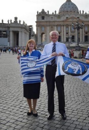 John McCarthy, QC, KCSG, may be the biggest Canterbury-Bankstown fan in the world's smallest nation.