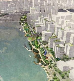 The redevelopment of South Brisbane's Kurilpa Peninsula is set to include highrises and parkland.