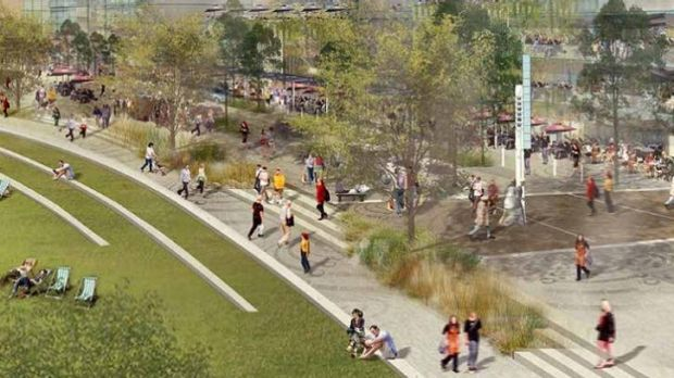 An artist impression of the redevelopment of South Brisbane.