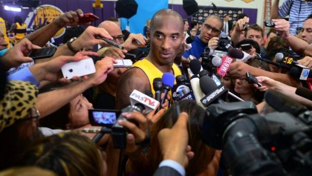 Centre of attention: Lakers veteran Kobe Bryant.