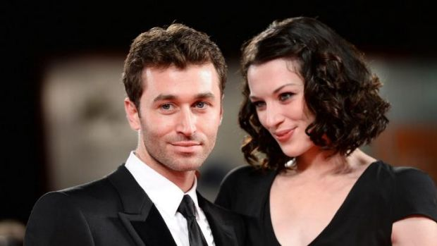 Deen and his girlfriend Stoya at <i>The Canyons</i> premiere at the Venice International Film Festival last year.