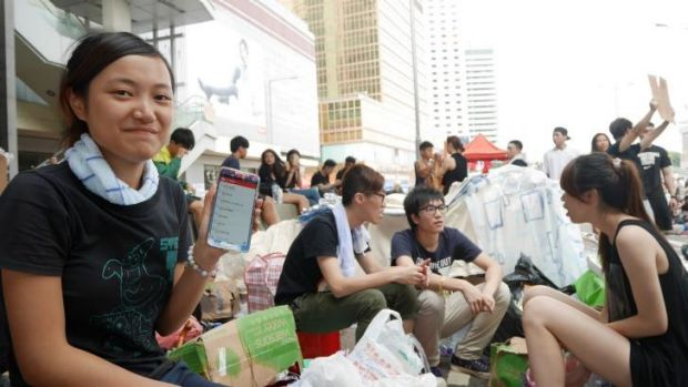 Jun Luk says trolls are using FireChat to provoke protesters and create conflict.