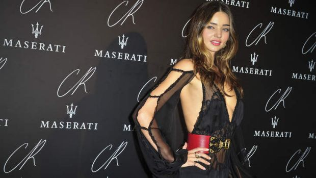 "Miranda Kerr: forget about thigh gap, now it's all about the ""nipple meridian""."