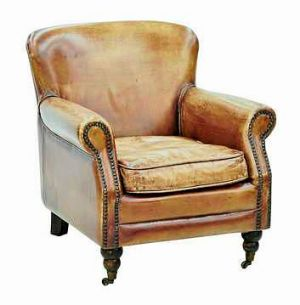 Aromatic? A vintage leather armchair.