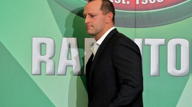 Low-key: South Sydney coach Michael Maguire hopes to manage the grand final hype.