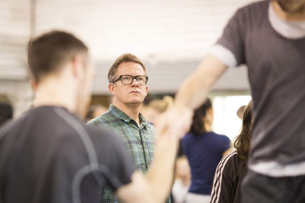 Matthew Bourne leads rehearsals for Swan Lake.