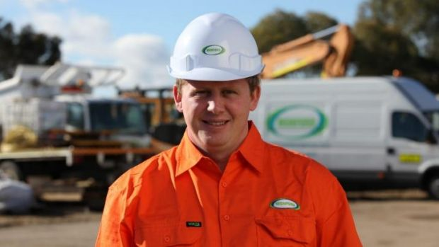 Irishman Declan White worked in West Australian mines before launching his construction services company.