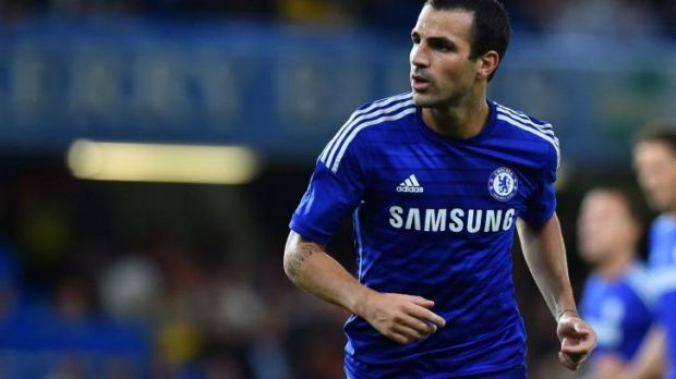 New colours: Chelsea's Cesc Fabregas.