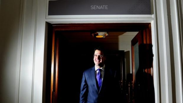 Zed Seselja inside Old Parliament House