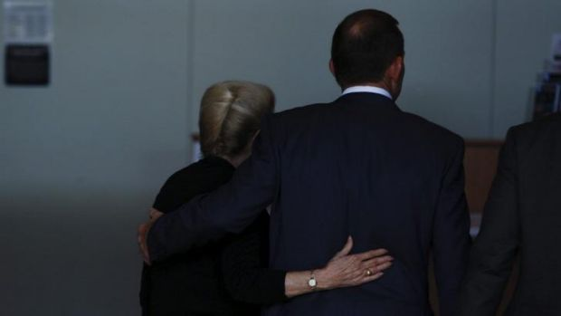 Tony Abbott and Bronwyn Bishop during for 2013 election campaign.