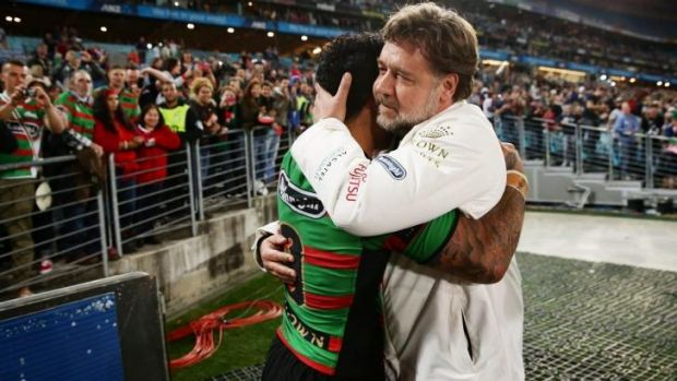 Punters have been offered odds on what Russell Crowe will wear to Sunday's NRL grand final, as well as how he might ...