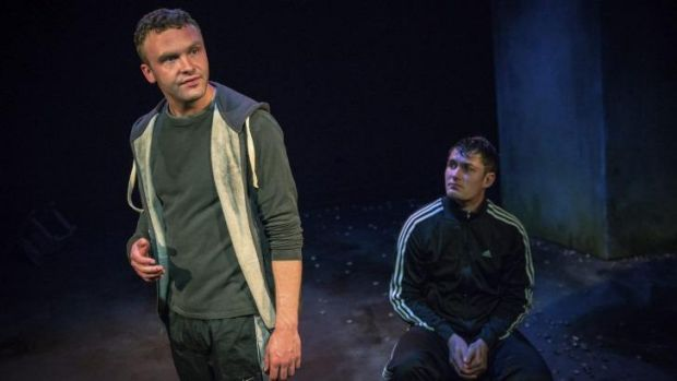 Andrew Henry and Sean Hawkins in <i>Howie the Rookie</i>.