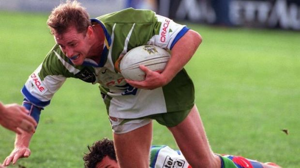 Passion for the game: Michael Maguire plays for the Raiders in 1998.