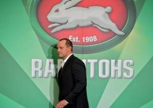 On the brink of glory: South Sydney coach Michael Maguire.