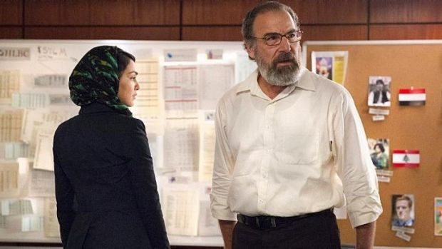 One of two Muslim roles: Fara (played by Nazanin Boniadi) helps US intelligence director Saul Berenson (played by Mandy ...