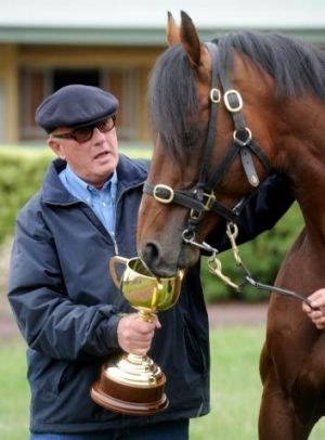 Cups ace: Lloyd Williams with Green Moon.