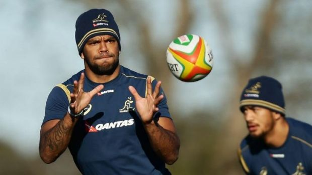 Kurtley Beale during a training drill.