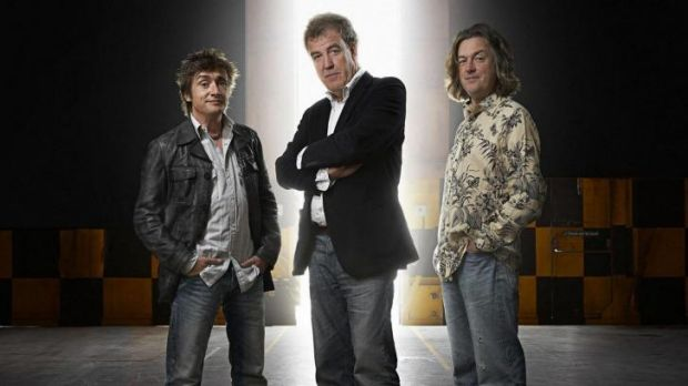Attacked by Argentinean crowd for number plate: ... Top Gear presenters, from left, Richard Hammond, Jeremy Clarkson and ...