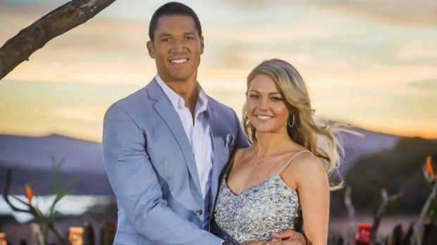 It's over: The Bachelor, Blake Garvey, and Sam Frost.