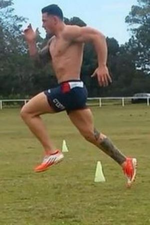 Straight back into it: Sonny Bill Williams training this week.
