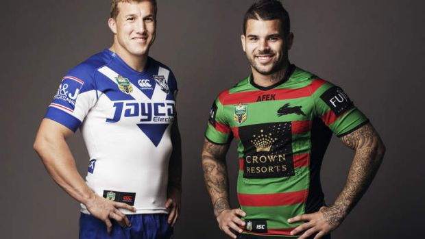 All smiles: Trent Hodkinson and Adam Reynolds.