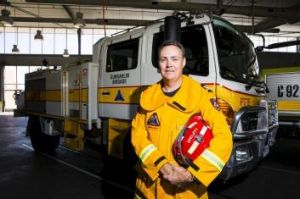 Keeping up: Gungahlin rural fire brigade captain Simon Butt, 46, said he has lost 25 kilograms in the last nine months ...